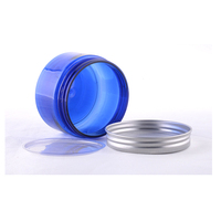 cheap price 50g 80g 100g 150g 50ml 80ml 100ml 150ml Pet Blue Cosmetics Plastic Jar With Aluminum Cap for cream