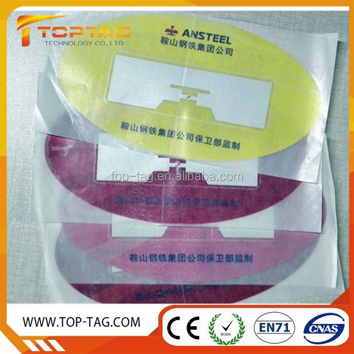 Logo QR Code Printing UHF RFID Sticker Tag Windshield Tag for Car Identification