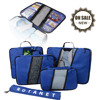 2 in 1 Travel Bag Mockup Cosmetic Organizer at the Lid Of Bag Best For Women and Men Packing Cubes Set for Travel