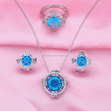 brazilian fancy costume jewelry with cz rings earring jewelry sets