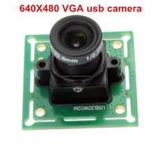 ELP VGA mini size 640*480 MJPEG YUY2 0.3mp usb monochrome camera