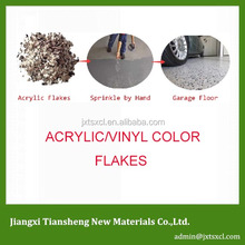 Acrylic/Vinyl color Flakes Polymer Garage Floor Flakes