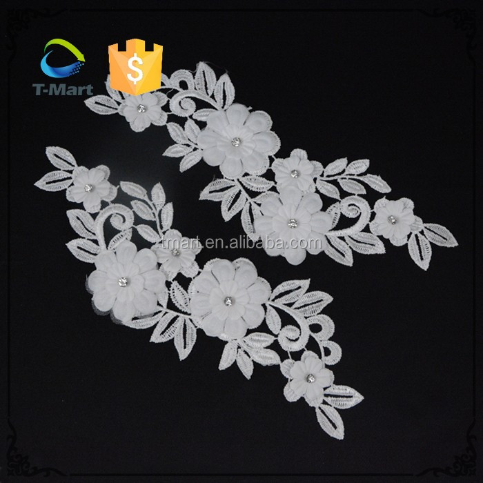 2016 Best design White lace flower African Printed Fabric for garment
