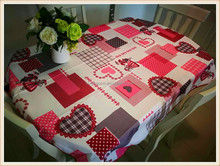 Wholesale high quality various fresh designs fabric painting table cloth