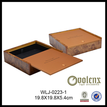 Design Jewelry Solid Sapele Wood Box For America Market