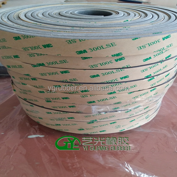 Adhesive silicone sponge rubber strip tape