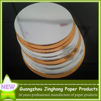 high quality gold foil cake circles straight edge