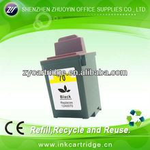 Refillable ink cartridge LM70(12A0070) for Lexmark CJ3200/5000/5700/7000/Z11/Z31/Z42/Z43/Z45/Z51/Z52/Z53/X73/X83/X85/X125/X4250