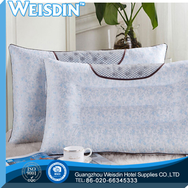 square wholesale polyester/cotton gel antiallergic medical pillow