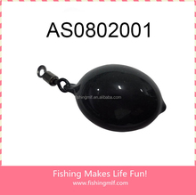 AS0802001 wholesale fishing weights Rubber Coated fishing Sinker with swivel