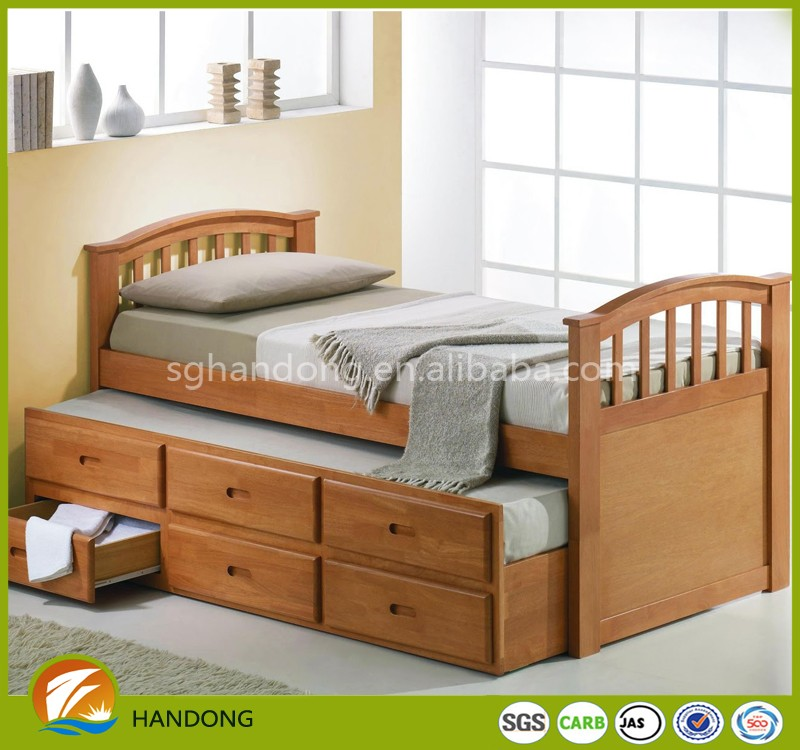 2016 Chinese bedroom furniture Antique bunk bed frame with drawers