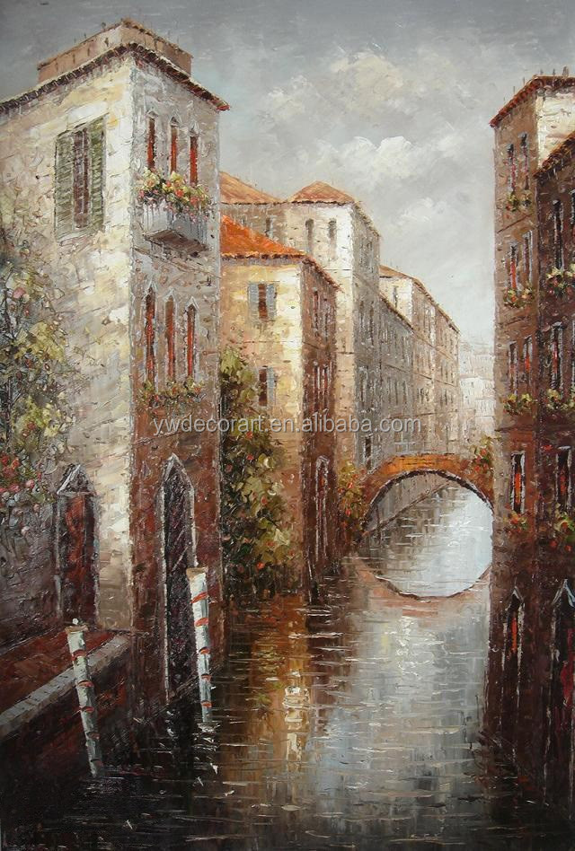 Classical Venetian Scenery Oil Painting Art Pictures on canvas for wall decoration