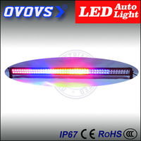 OVOVS 50inch red and yellow colorful 288w police car lights for atv, jeep