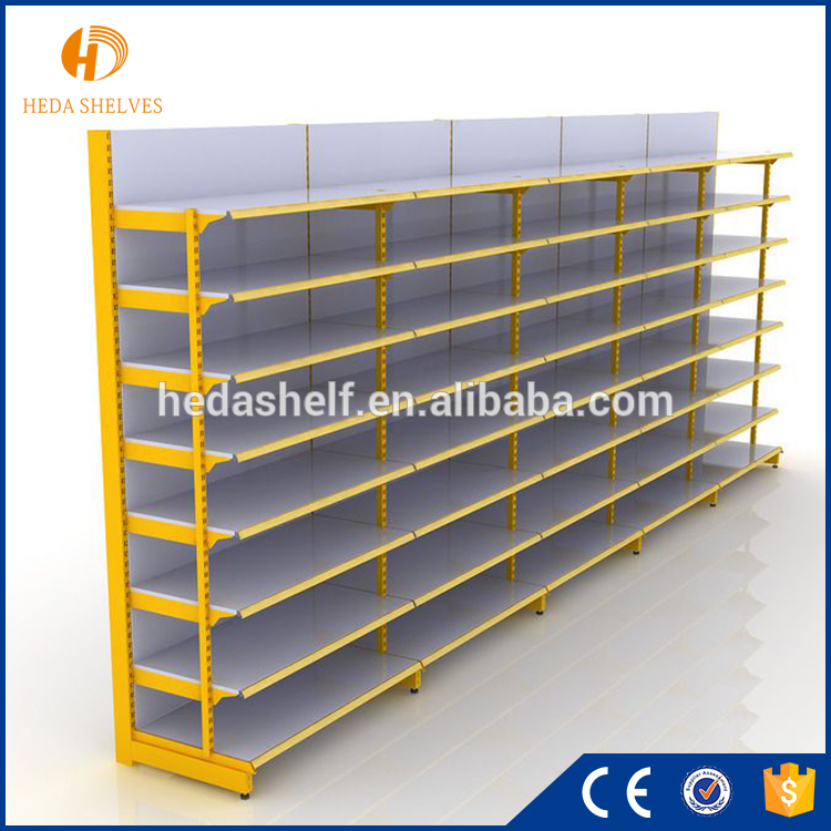 Customized stainless steel light duty used grocery store shelf