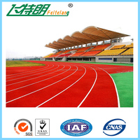 Recycled sport stadium materials rubber running race track