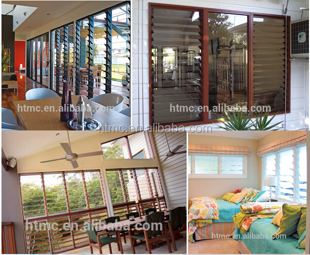 new design price of glass louver with aluminum frame online shop china