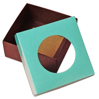 factory supplier eco friendly luxury colorful kraft paper boxes with window food grade box