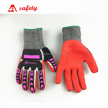 High Impact Anti Slip Protective Gloves For Construction Labors