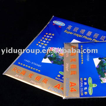 Resin Coated Glossy Photo Paper Waterproof/Micro-porous
