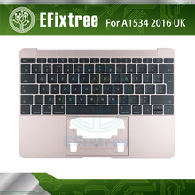 Rose Pink UK A1534 Top case With Keyboard 2016 Year For Macbook Retina A1534 Palmrest Top Case Topcase Keyboard With Backlight