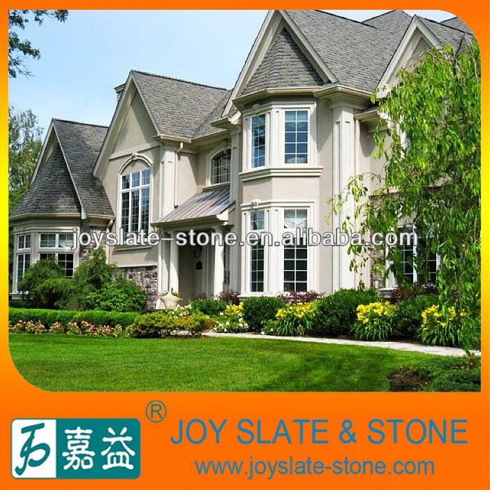 Colorful natural stone roof tiles