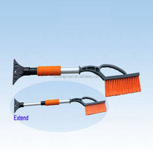 Telescopic Plastic Snow Brush for Car Cleaning with Ice Scraper