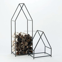 fireplace accessory metal smart log holder rack wrought iron firewood holder