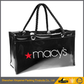 custom made waterproof pvc tote handle plastic packaging bags