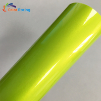 PVC flexible glossy bright best quality cheap cost Magic lemon yellow car wrap vinyl