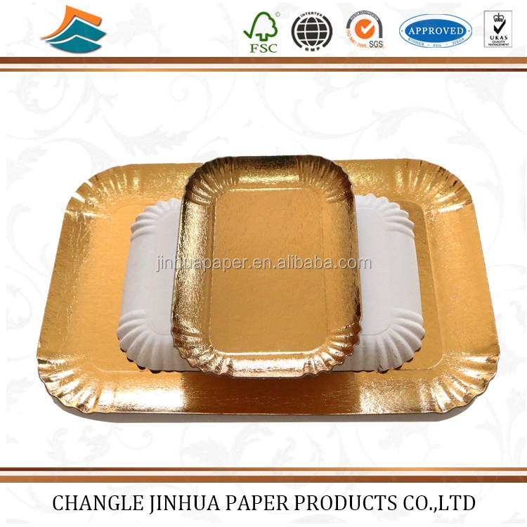 Cheap price custom printed disposable paper plates/wholesale paper cake tray