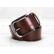 EUBL1030-40 BROWN Fashion High Quality Genuine Italian Men's Leather Belt