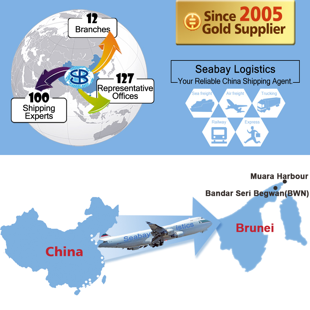 Cheap air freight shipping agent from china to brunei