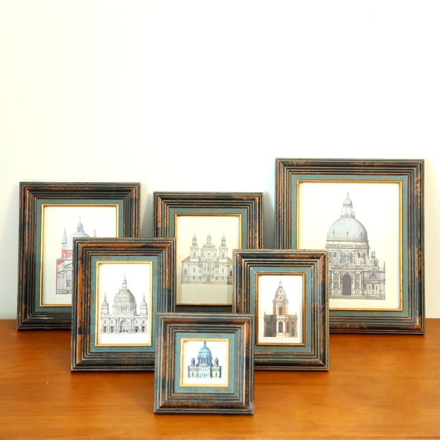 European American-style rural solid wood photo frame to do the old wooden photo frame combination of retro frame