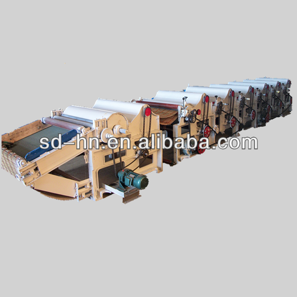 Cotton waste recycling machine for garment yarn flax recycling
