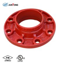 FM/UL Listed Approved Ductile Iron Grooved Fittings Flange Adaptor