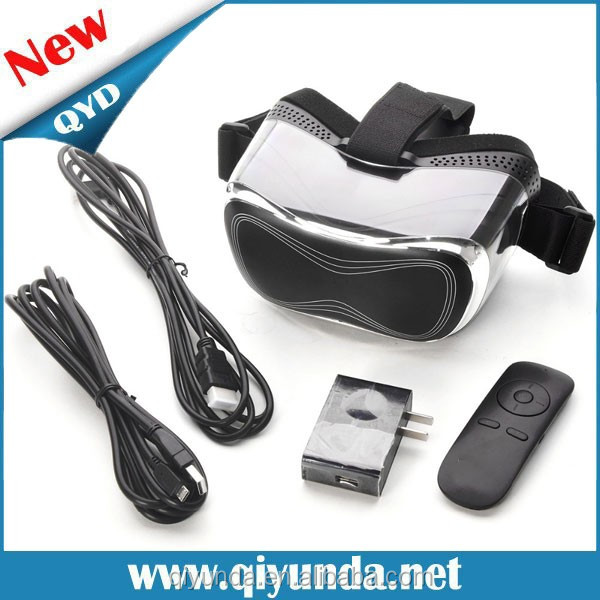 2016 virtual reality 3d glasses ,blue films video 3gp mobile with TF slot