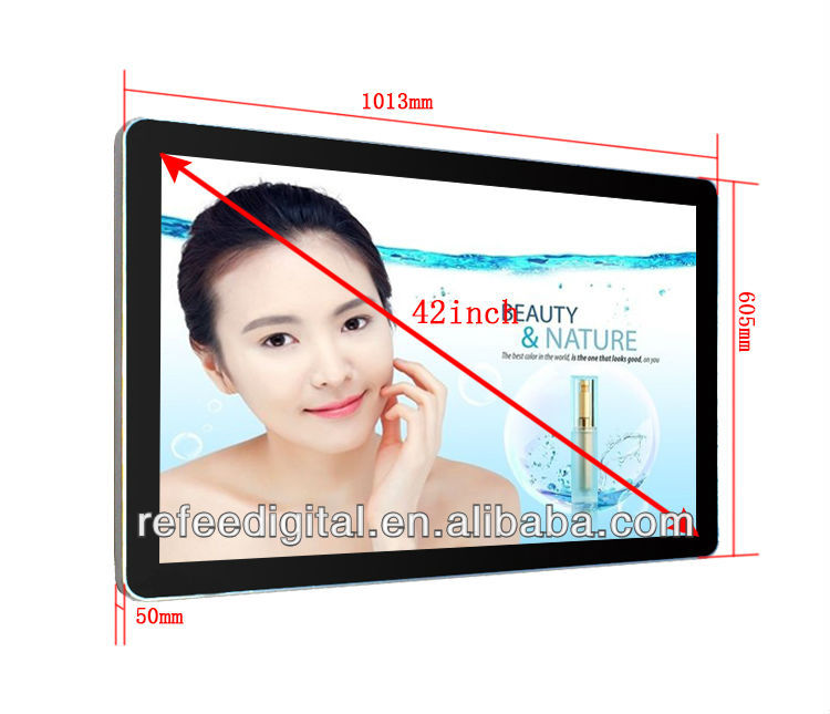 "Apple design 42 "" LCD Advertising Player,digital signage with 3G/Wifi/RJ45"