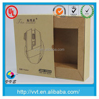 Decorative drawer design kraft paper box packaging computer mouse