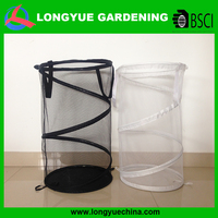 High quality durable round net collapsible laundry basket