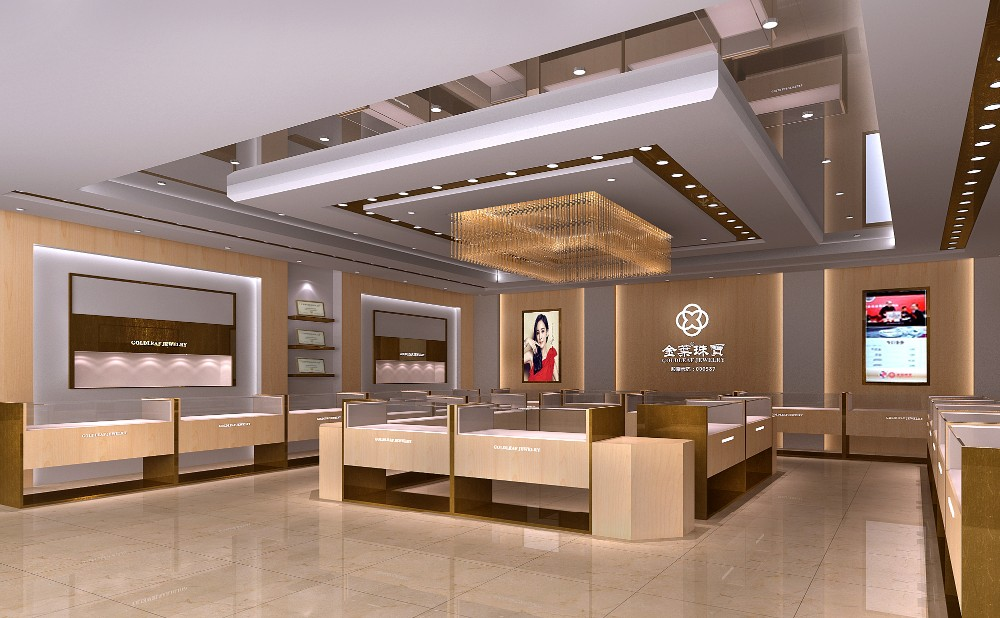 High end jewellery shops interior design images view for Jewellery showrooms interior designs