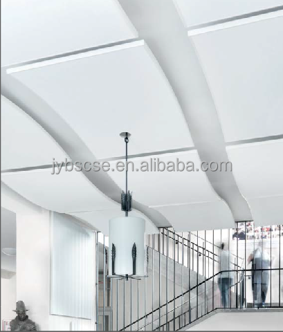 Curved glassfiber suspended baffles