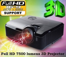 Best Business Home Theater Cinema 300inch 7500 ANSI Native 1080p full HD 1920x1080 Video Digital 3D DLP Projector 4k Proyector