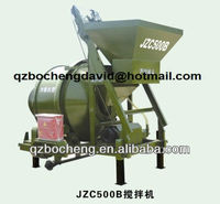 Track Mounted Electric Motor Moible Concrete Mixer JZC500B