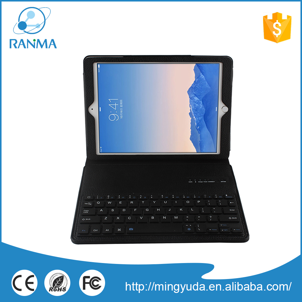 Mini bluetooth universal 9.7 inch tablet pc case with keyboard