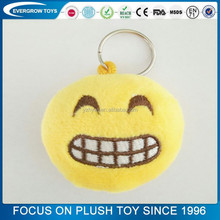 hot sale laugh emoji keychain plush toy embroidery