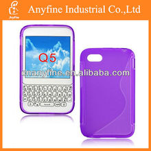 tpu case for blackberry Q5, tpu case mobile phone assembly