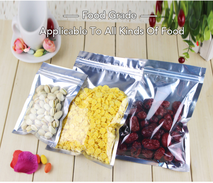 Hot sell food Grade Unprinted kraft paper zipper bag