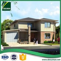 DESUMAN hot selling products ergonomic design energy conservation two storey russia prefabricated villa