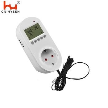 Hysen HY02TPR EU LCD Digital 16A Plug In Electric Thermostatic Socket with Sensor Probe