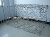 Galvanized hexagonal gabiony for flood control